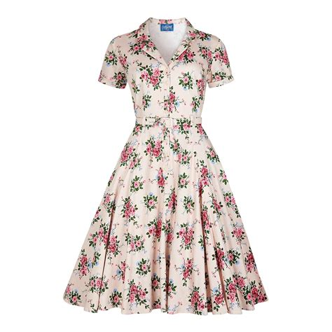 40s swing dress collectif vintage caterina 40s floral swing dress