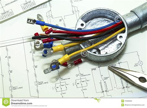 connecting electrical wires electrical wiring royalty free stock photo image 31836355