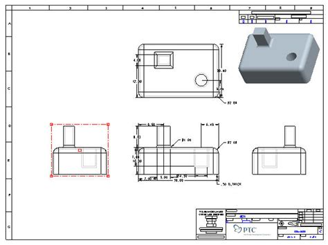 pro e section view introduction to creating drawings in pro engineer