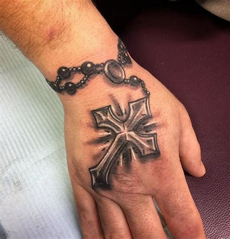 small rosary tattoos rosary cross on ankle cross designs idea