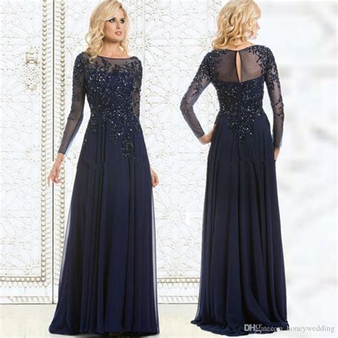 Dress Barn Customer Service Modest Navy Blue Plus Size Dresses Evening Wear Long