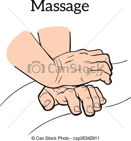 hand massage clipart vector clip art of therapeutic manual massage medical