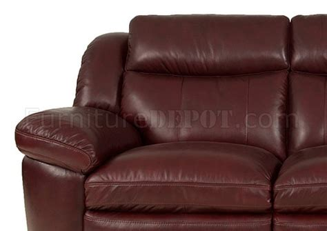 burgundy leather sofa and loveseat 8550 sonora sofa loveseat in burgundy set by leather italia
