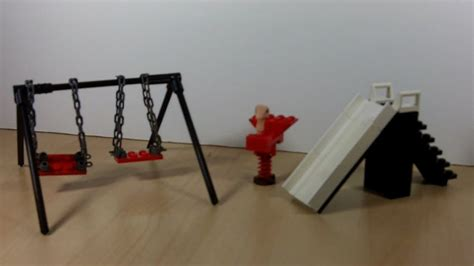 how to build a swing set with slide how to build a lego playground slide swings bouncy