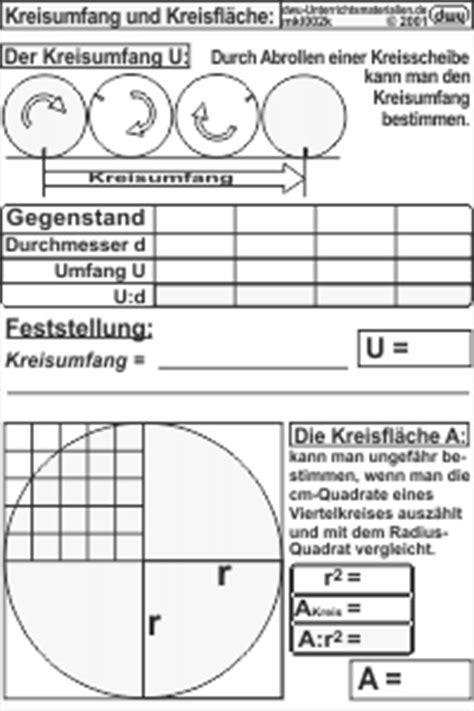mkl002 - Kreisumfang und Kreisfläche
