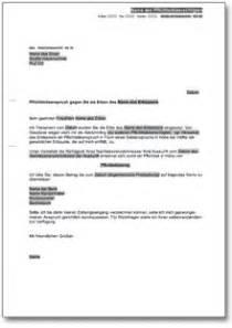 Musterbrief Versicherung Wertminderung Pflichtteilsanspruch Gegen Den Erben De Musterbrief