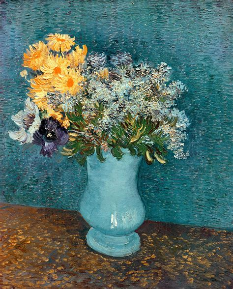 Gogh Vase Of Flowers by Vase Of Flowers By Vincent Gogh