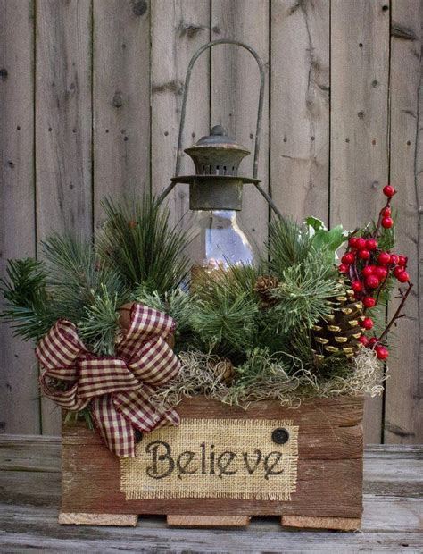 country christmas lantern arrangement country sler