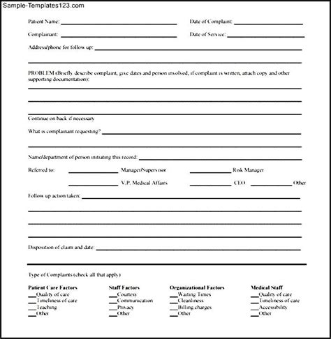 Complaint Letter For Misbehavior Of Staff Sle complaint form template sle complaint 28 images 49