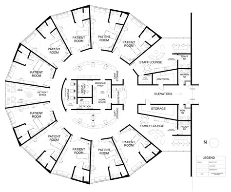centralized floor plan nurse station floor plan google search hospitais