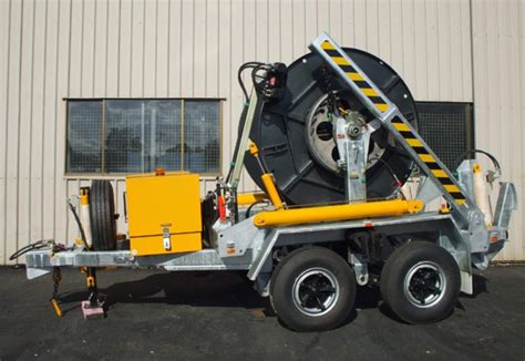 6 tonne cable trailer winch hire cable handling