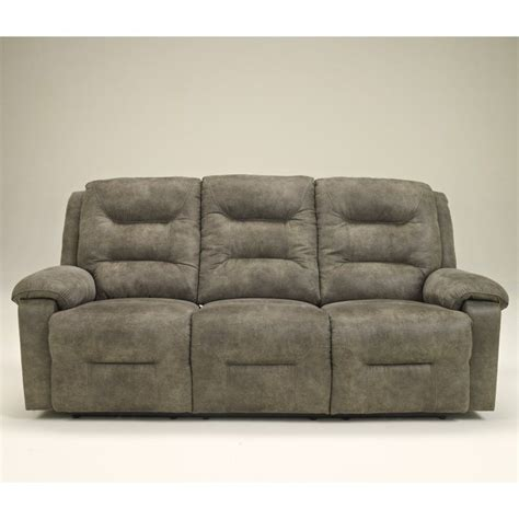 ashley furniture power recliners ashley furniture rotation power reclining sofa in smoke