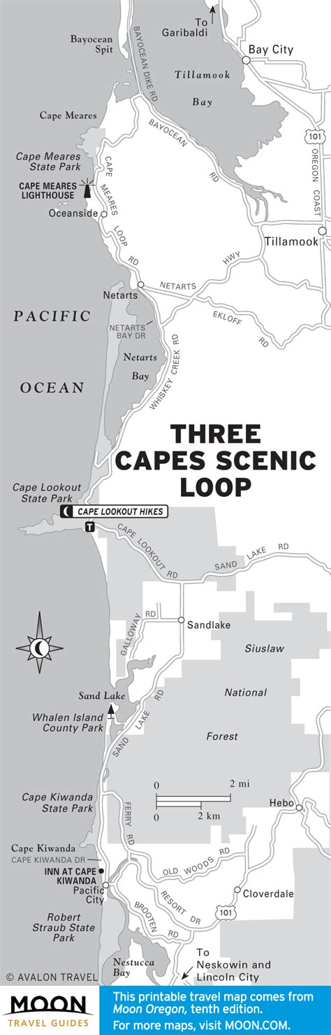 map of oceanside oregon three capes scenic loop cape meares state scenic