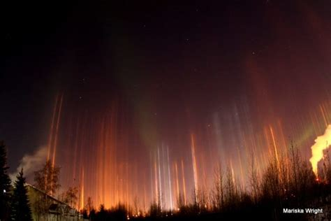 light pillars mysterious light pillars transcend phenomenal aurora in