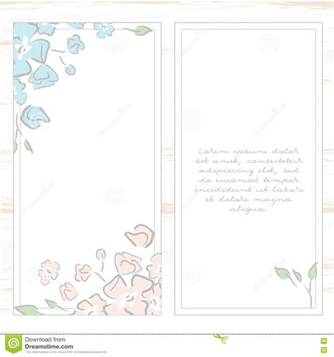 Mirkwood Designs Flower Card Template by Floral Card Template Royalty Free Stock Image