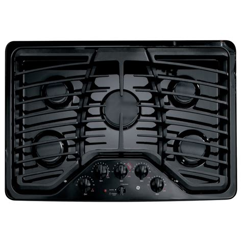 Ge Profile 5 Burner Gas Cooktop shop ge profile 5 burner gas cooktop black common 30