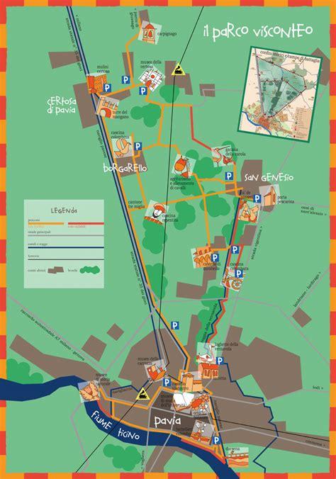 mappa certosa di pavia il parco visconteo certosa tourism