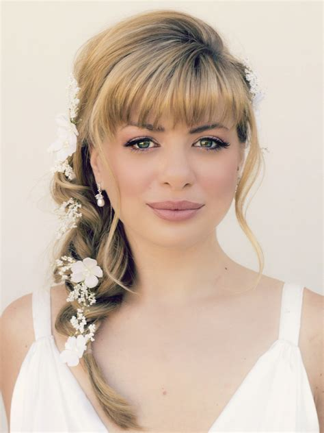 Wedding Hairstyles With Bangs And Braids wedding hairstyles with braids and bangs fade haircut