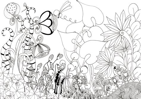 How To Draw A Garden Of Flowers