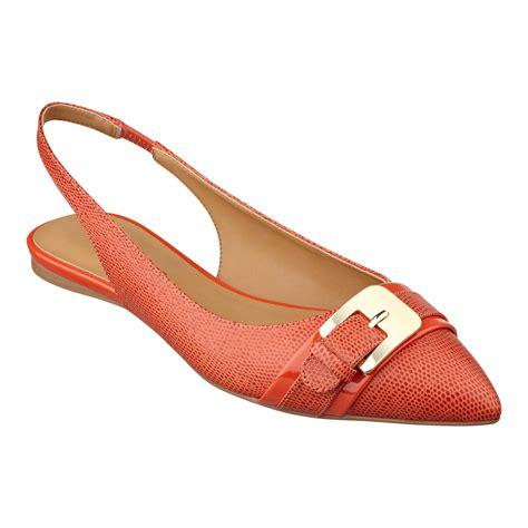 flat slingback shoes nine west anyamarie slingback flat in orange lyst