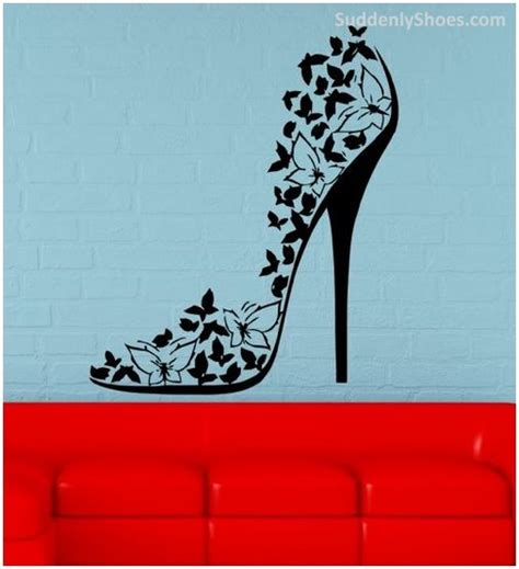 Next Wall Stickers suddenly shoes wall mural vinyl art decal sticker high