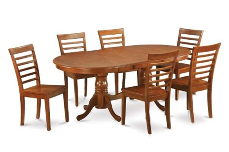 8 pc hamlyn rectangular double pedestal table dining room 7pc oval dining set table 42 x78 and 6 wood ladder back