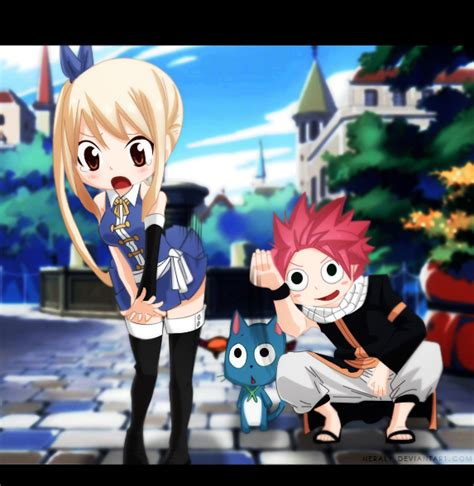 lucy and natsu fairy tail by neraly on deviantart