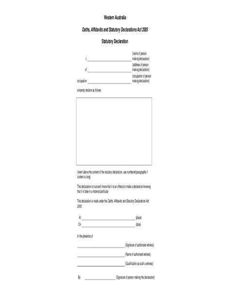 statutory declaration template name change 100 statutory declaration template statutory