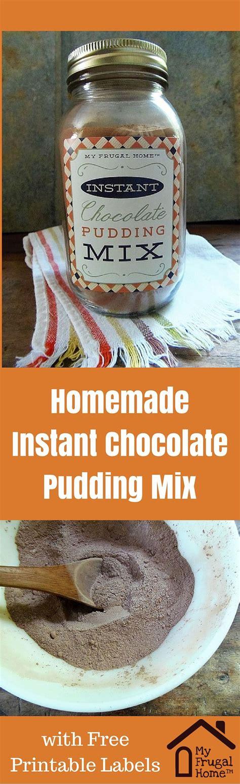 diy instant chocolate no cook instant chocolate pudding mix recipe