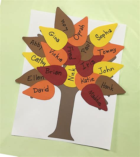 Fall Construction Paper Crafts - fall classroom tree