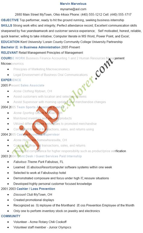 Job Resume Template   Sample Job Resume