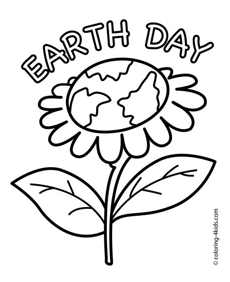 happy flower coloring page earth day flower coloring pages for kids today printable