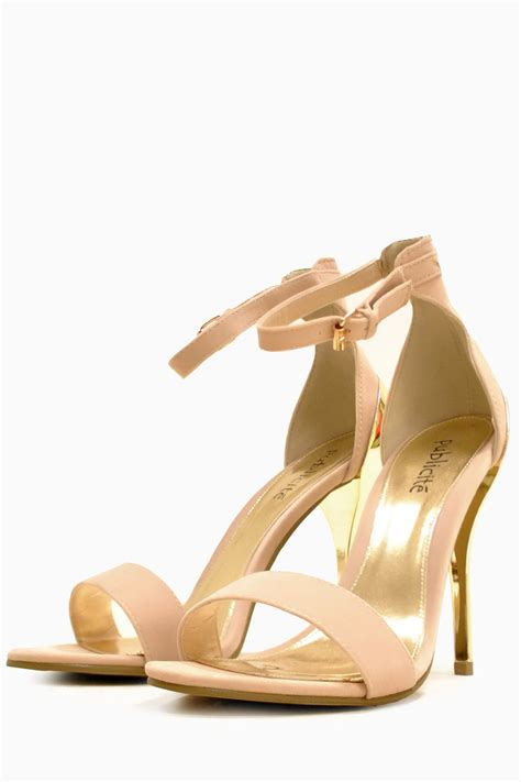 sandals heels 247 paula strappy metallic mid heels sandals in