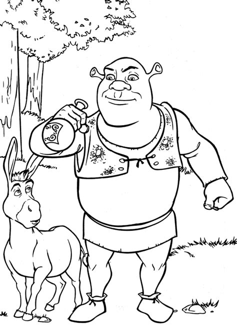 Shrek Coloring Pages Coloringpages1001 Com Shrek Coloring Pages
