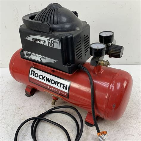 100 psi 2 gallon 115 volt ac air compressor used bargain bin www surpluscenter