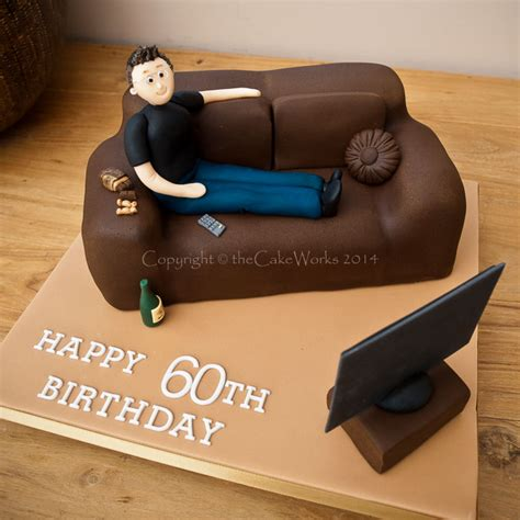 sofa cake cakes for men and boys favourite hobby on the sofa