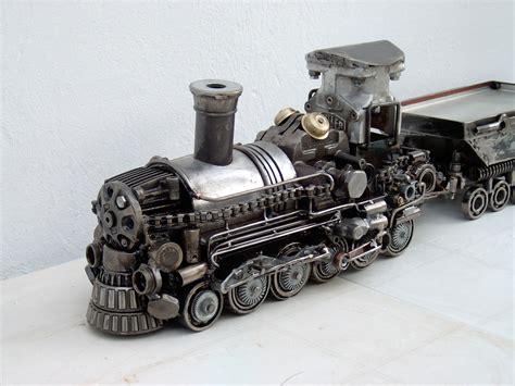 Railway Car Metal Diskon metal sculpture the most amazing sculpture