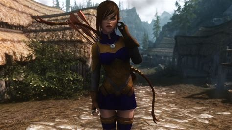 skyrim archer armor mod noldorian elven archer armour and bow at skyrim nexus