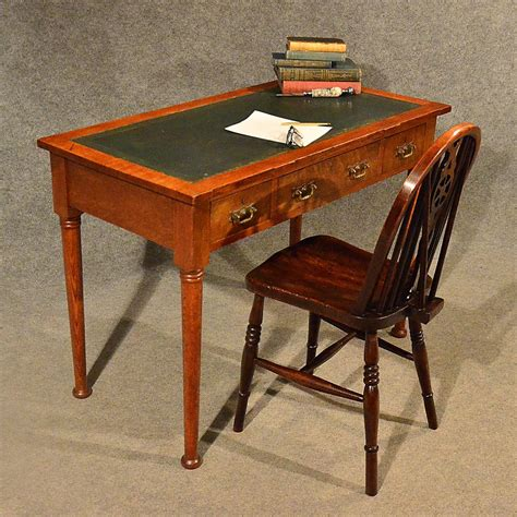 leather top writing desk antique desk leather top library writing study antiques