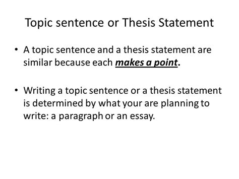 how to write a topic sentence for a research paper writing effective topic thesis sentence ppt