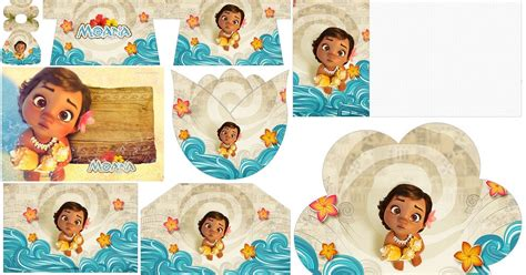 moana baby  printable invitations   baby