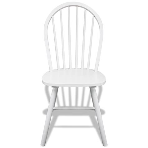 vidaxl co uk 6 wooden dining chairs white