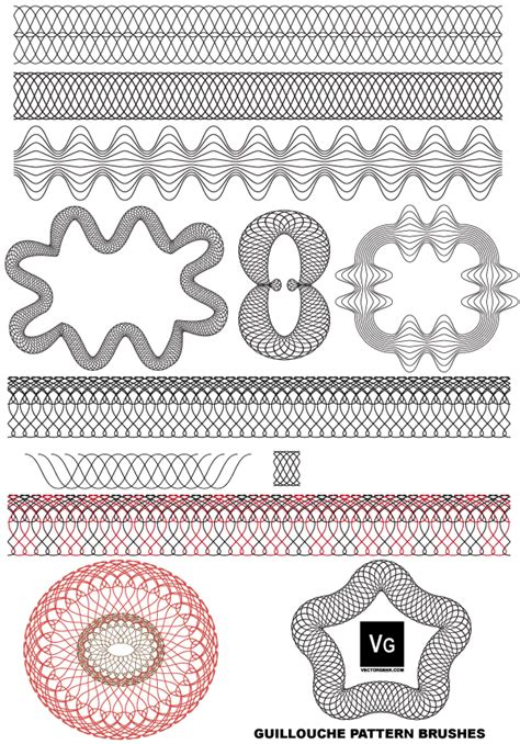 illustrator pattern eps free vector guilloche patterns illustrator brushes