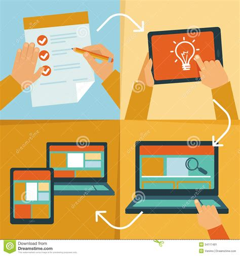 web layout vector vector web design process stock image image 34117491