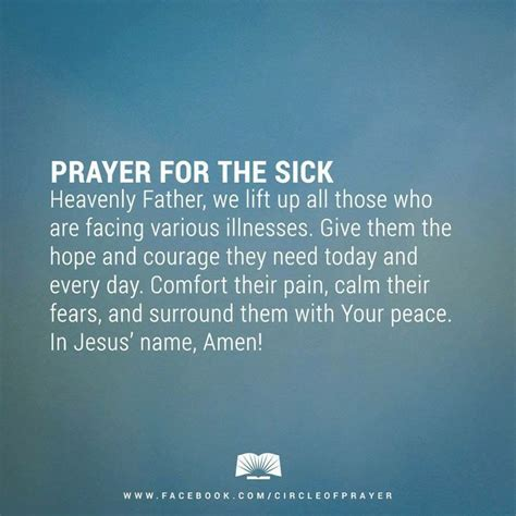 prayer for sick prayers for healing the sick images prayers prayer of healing