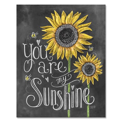 you are my sunshine chalkboard look print by longfellowdesigns lily val you are my sunshine print childs room decor