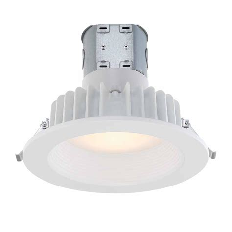 Bathroom Led Light Fixtures Commercial Electric Easy Up 6 In Soft White Integrated