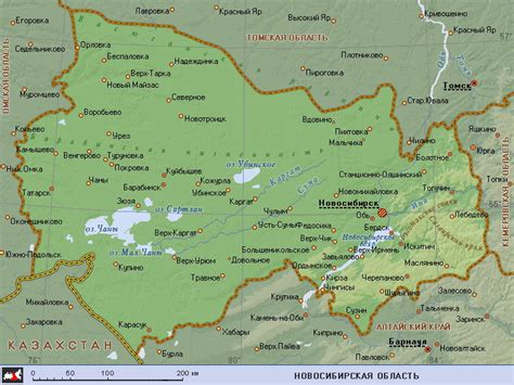 novosibirsk map map of novosibirsk oblast maps of russia regions
