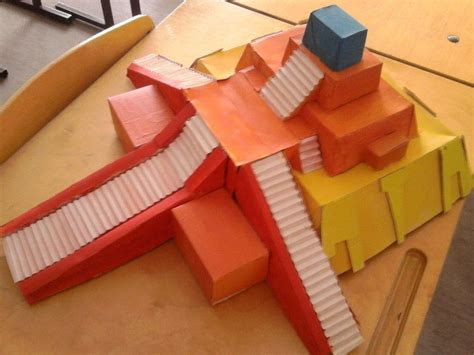 How To Make Paper Ls - cardboard ziggurat temple 183 a model or sculpture 183