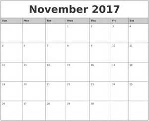 printable monthly calendar template november 2017 monthly calendar printable
